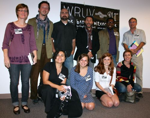 We launched The WRUV Reader in Fall 2012. Readers included (clockwise from left) Nancy Welch, Ben Aleshire, Aaron Smith, Antonello Borra, Major Jackson, Phillip Baruth, Abby Paige, Zoe Lewis, Theodora Ziolkowski and Tina Escaja.